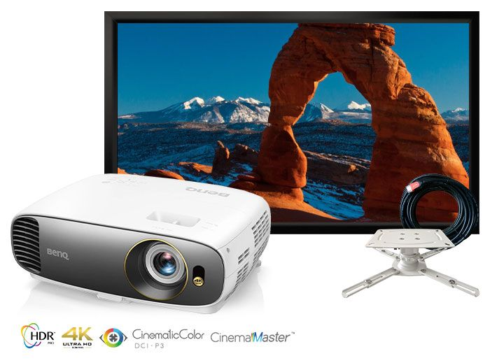 BenQ W1700M True 4K HDR Home Cinema Projector Package