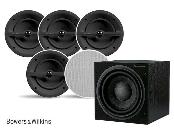 Bowers & Wilkins CCM382 & ASW608 5.1 Architectural Home Theatre Speaker Package
