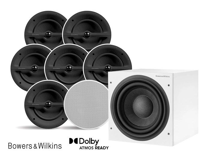 Bowers & Wilkins CCM382 & ASW610 7.1/5.1.2 Architectural Home Theatre Speaker Package