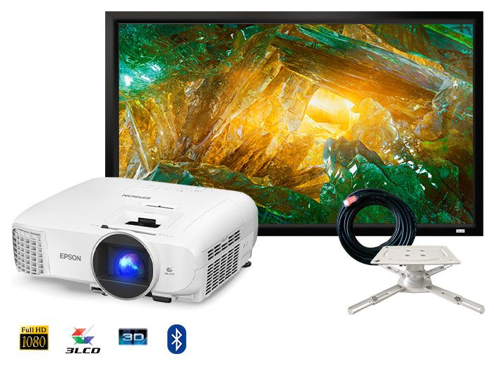 Epson EH-TW5700 3D Full HD Smart Home Cinema Gaming Projector Package