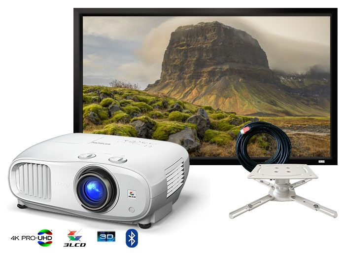 Epson EH-TW7100 4K PRO-UHD HDR Home Cinema Projector Package