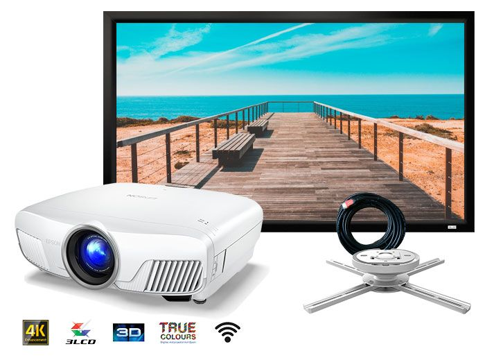 Epson EH-TW9400W 4K PRO-UHD Home Cinema Projector Package