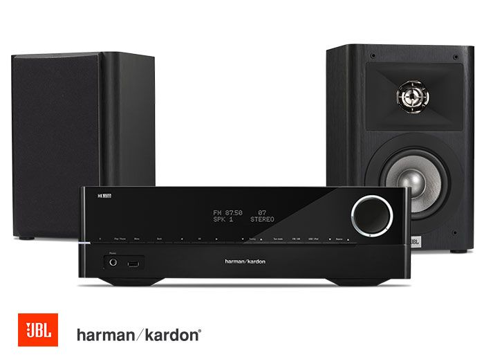 Harman Kardon HK 3700 Receiver and JBL Studio 220 Speakers Hi-Fi System