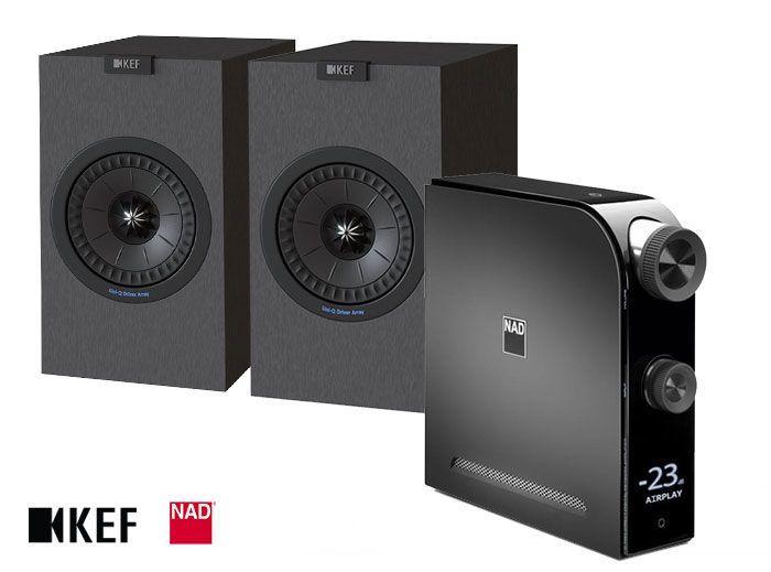 NAD D 7050 Amplifier & KEF Q150 Bookshelf Speakers Hi-Fi System