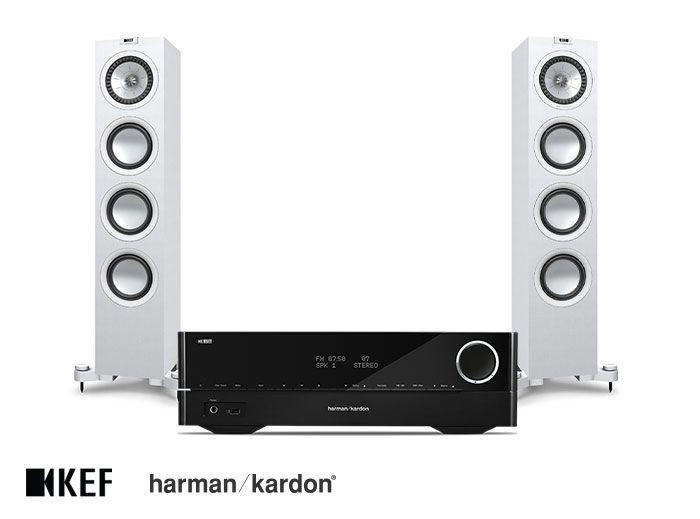 Harman Kardon HK 3700 Receiver and KEF Q550 Speakers Hi-Fi System