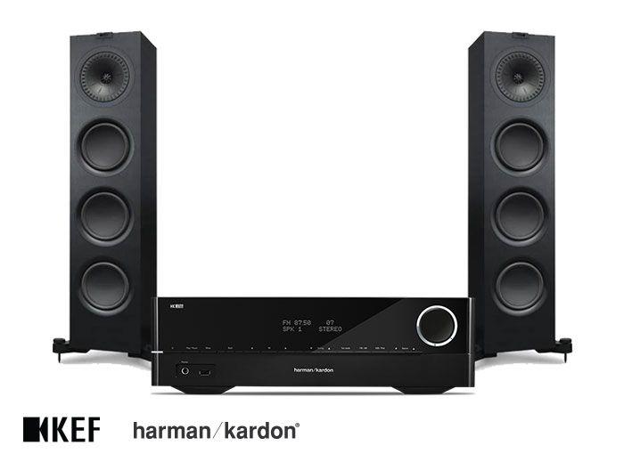Harman Kardon HK 3700 Receiver and KEF Q750 Speakers Hi-Fi System