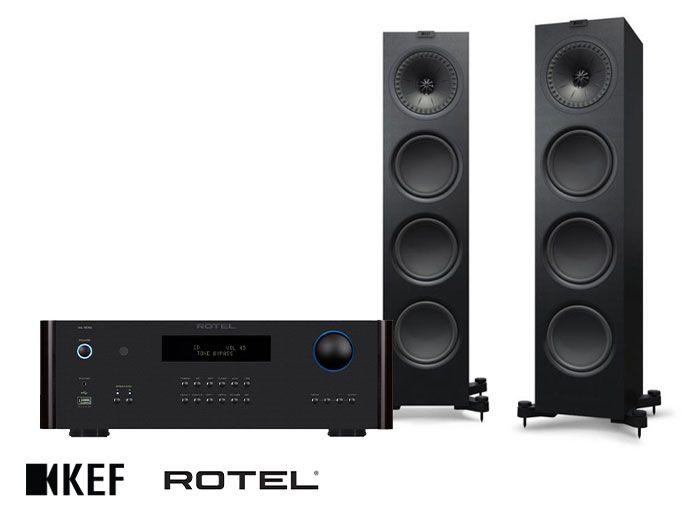 Rotel RA-1572MKII Amplifier & KEF Q950 Floorstanding Speakers Hi-Fi System