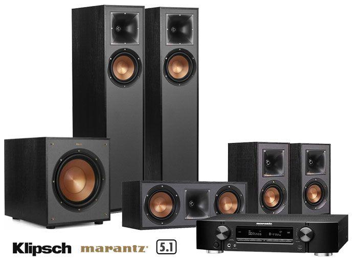 Marantz NR1711 Receiver & Klipsch R-610F 5.1 Speakers Home Theatre System